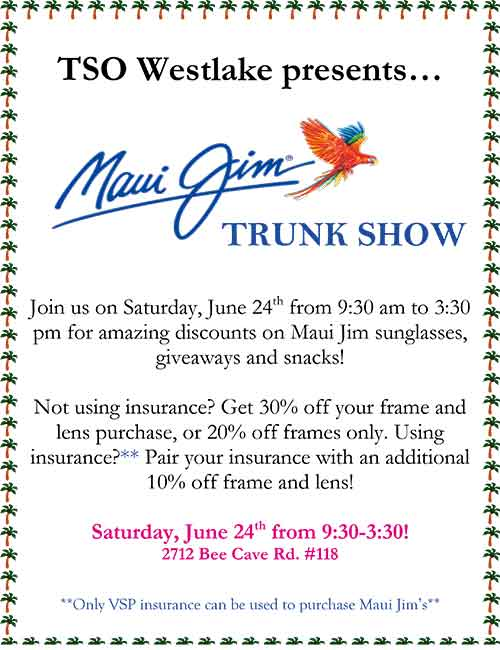 Maui Jim Trunk Show June 24, 2017